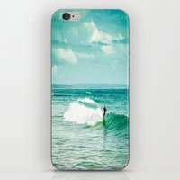 surf iPhone & iPod Skins featuring Surf by Sébastien BOUVIER
