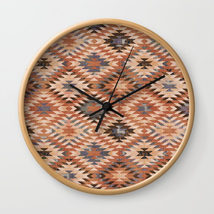Arizona Southwestern Tribal Print Wall Clock