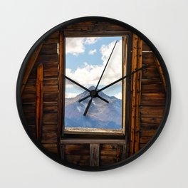 MOUNT WILSON FRAMED TELLURIDE COLORADO MOUNTAIN LANDSCAPE NATURE Wall Clock