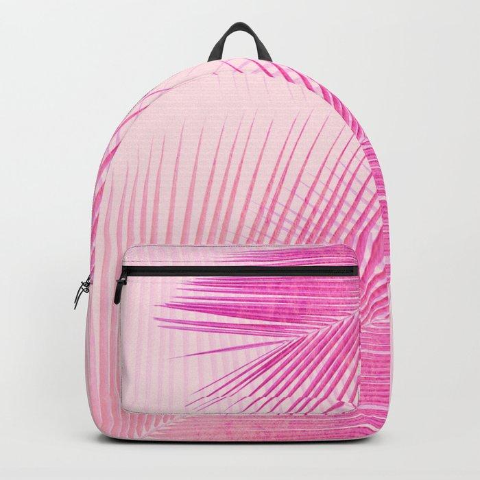 Palm leaf synchronicity - sunset pink Backpack
