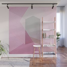 Coming Home - Abstract Geometric Painting Blush Pink Wall Mural