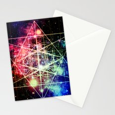 Rainbow Flower of Life : Sacred Geometry Stationery Cards