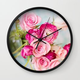 Bunches of Pink II Wall Clock
