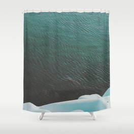 Simply cold Shower Curtain