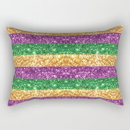 Purple Green and Gold Glitter Stripes #society6 Rectangular Pillow