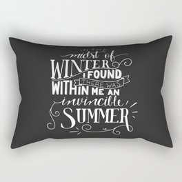 Albert Camus - In the Midst of Winter Rectangular Pillow