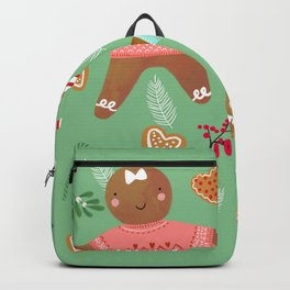 Gingerbread girl and boy Backpack
