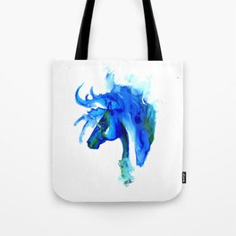 Blue Horse in ink Tote Bag