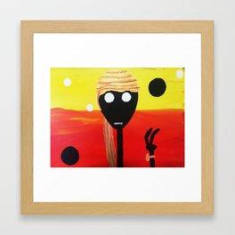 Black Body in the Desert Framed Art Print