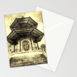 The Pagoda Battersea Park London Vintage Stationery Cards