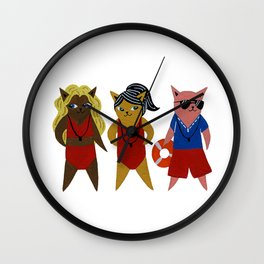 Beach Guardians Wall Clock