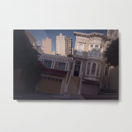 Tilted House - San Francisco Metal Print