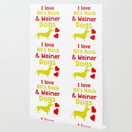 Funny & Cute Weiner Tshirt Designs I love 80s rock and weiner dogs Wallpaper