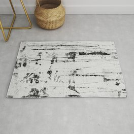 Distressed Grunge 102 in B&W INVERSE Rug