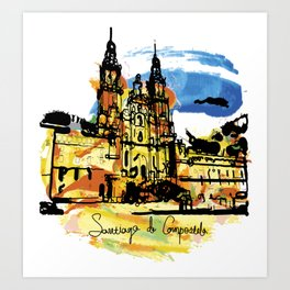 santiago  camino Art Print