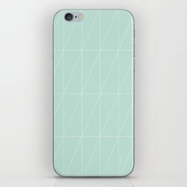 Mint Triangles by Friztin iPhone Skin