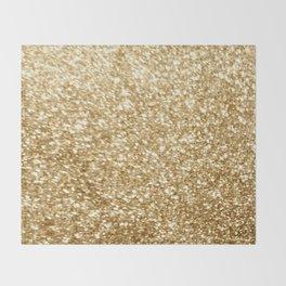 Gold glitter Throw Blanket
