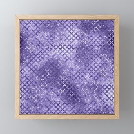 Modern Faux Foil Periwinkle Blue Circle Geometric Pattern Framed Mini Art Print