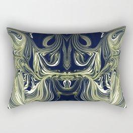 Blue Oil Gestalt Abstract IV Rectangular Pillow