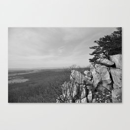 On Top of White Rock Canvas Print