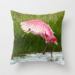 Roseate Spoonbill 2 Throw Pillow