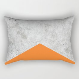 Geometric Concrete Arrow Design - Orange #118 Rectangular Pillow