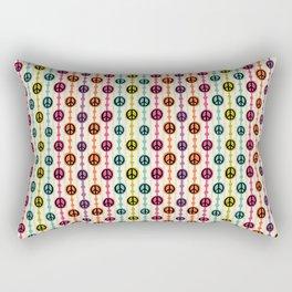 Peace Signs Hippie Beaded Curtain Rectangular Pillow