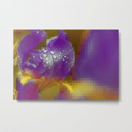 Wet Violett Lilly in Surreal Cubic World of Art Metal Print