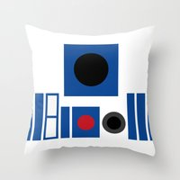 r2d2 Throw Pillows featuring R2D2 by VineDesign