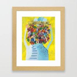 head of flowers Framed Art Print