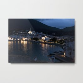 Spanish Harbour by Night  Metal Print