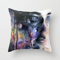 frozen Throw Pillows featuring Frozen by agnes-cecile