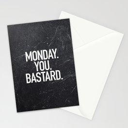 Monday You Bastard Stationery Cards