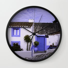 Home in Nazare Wall Clock