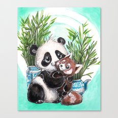 Panda red panda Canvas Print