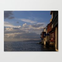 greece Canvas Prints featuring GREECE by Jennifer Spradling
