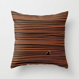 Minimalist Shark Lover Gift Halloween Edition Throw Pillow