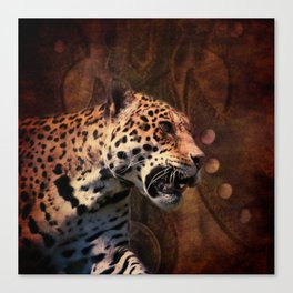 western country rustic wild leopard Canvas Print