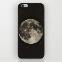 type iPhone & iPod Skins featuring The Moon  [Sans Type] by Heather Landis