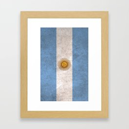 Argentina Flag (Vintage / Distressed) Framed Art Print