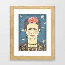 Frida Kahlo Portrait Framed Art Print