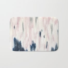 Blush Pink and Blue Pretty Abstract Bath Mat