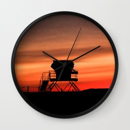 Tower 22 Sunset Wall Clock