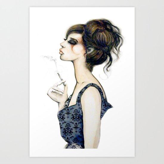Smoke // Fashion Illustration Art Print
