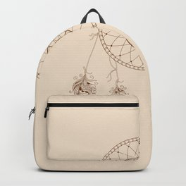dream catcher with decorated feathers Backpack