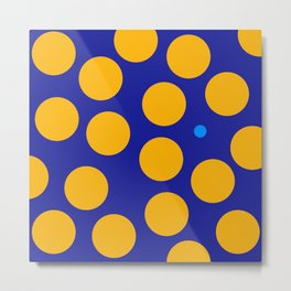 yellow dots Metal Print