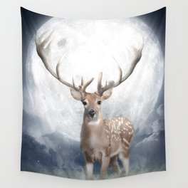 Midnight Deer Wall Tapestry