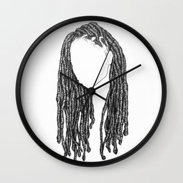 Hair Study 2 Wall Clock