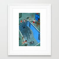 pool Framed Art Prints featuring Pool by Valeriya Volkova