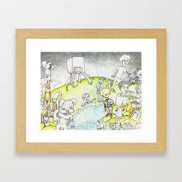 Land and Sea Framed Art Print